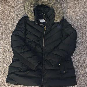 Michael Kors black jacket with fur hood